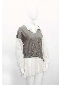 AW20-CCG-9880/ Gris Argent Blanc Shirt